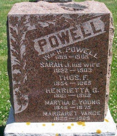 VANCE POWELL, SARAH J - Howard County, Iowa | SARAH J VANCE POWELL