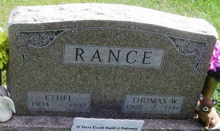 RANCE, THOMAS W. - Howard County, Iowa | THOMAS W. RANCE