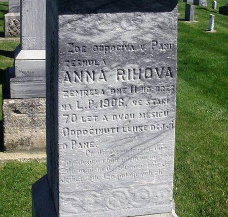 PELIKAN RIHOVA, ANNA - Howard County, Iowa   ANNA PELIKAN RIHOVA
