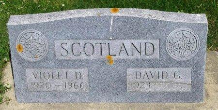 SCOTLAND, VIOLET D - Howard County, Iowa   VIOLET D SCOTLAND