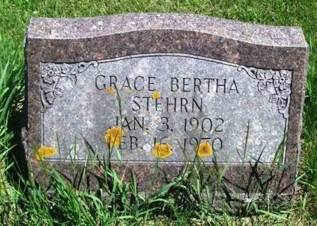 STEHRN, GRACE BERTHA - Howard County, Iowa | GRACE BERTHA STEHRN
