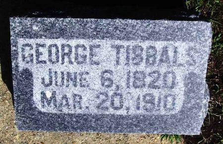TIBBALS, GEORGE - Howard County, Iowa   GEORGE TIBBALS