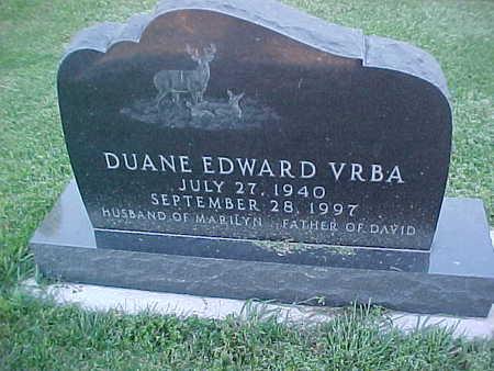 VRBA, DUANE EDWARD - Howard County, Iowa   DUANE EDWARD VRBA