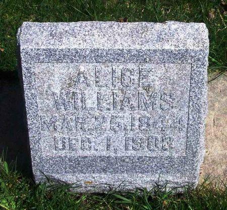 WILLIAMS, ALICE - Howard County, Iowa   ALICE WILLIAMS