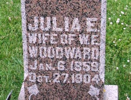 WOODWARD, JULIA ETTA - Howard County, Iowa | JULIA ETTA WOODWARD