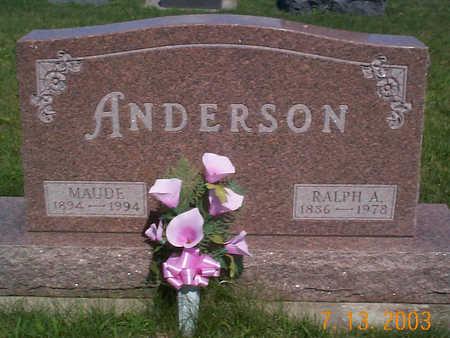ANDERSON, MAUDE - Humboldt County, Iowa | MAUDE ANDERSON