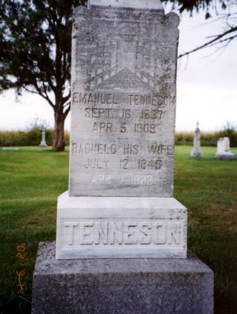 TENNESON, RAGNELD - Humboldt County, Iowa | RAGNELD TENNESON