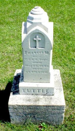 TUTTLE, FRANCES M - Humboldt County, Iowa | FRANCES M TUTTLE