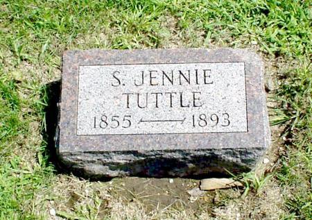TUTTLE, SARAH (JENNIE) - Humboldt County, Iowa | SARAH (JENNIE) TUTTLE