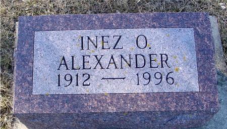 ALEXANDER, INEZ O. - Ida County, Iowa | INEZ O. ALEXANDER