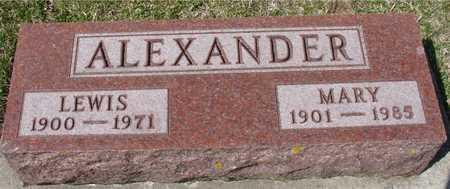 ALEXANDER, LEWIS & MARY - Ida County, Iowa | LEWIS & MARY ALEXANDER