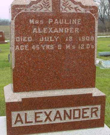 ALEXANDER, MRS. PAULINE - Ida County, Iowa | MRS. PAULINE ALEXANDER