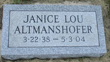 ALTMANSHOFER, JANICE LOU - Ida County, Iowa | JANICE LOU ALTMANSHOFER