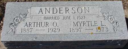 ANDERSON, ARTHUR & MYRTLE - Ida County, Iowa | ARTHUR & MYRTLE ANDERSON