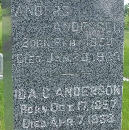 ANDERSON, IDA C. - Ida County, Iowa | IDA C. ANDERSON