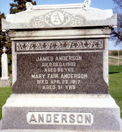 ANDERSON, JAMES - Ida County, Iowa | JAMES ANDERSON