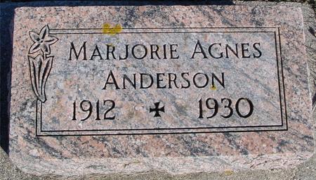 ANDERSON, MARJORIE AGNES - Ida County, Iowa   MARJORIE AGNES ANDERSON
