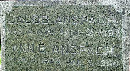 ANSPACH, JACOB & ANN - Ida County, Iowa | JACOB & ANN ANSPACH