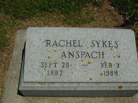SYKES ANSPACH, RACHEL - Ida County, Iowa | RACHEL SYKES ANSPACH