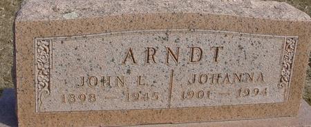 ARNDT, JOHN L. & JOHANNA - Ida County, Iowa | JOHN L. & JOHANNA ARNDT