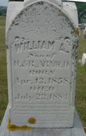 ARNOLD, WILLIAM A. - Ida County, Iowa   WILLIAM A. ARNOLD