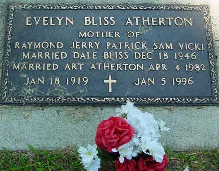 BLISS ATHERTON, EVELYN - Ida County, Iowa | EVELYN BLISS ATHERTON