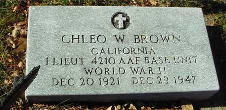 BROWN, CHLEO W. - Ida County, Iowa | CHLEO W. BROWN