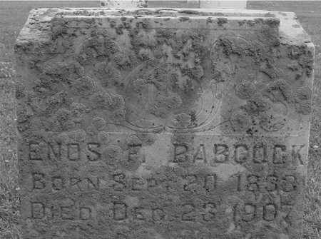 BABCOCK, ENOS F. - Ida County, Iowa | ENOS F. BABCOCK