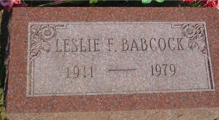 BABCOCK, LESLIE F. - Ida County, Iowa | LESLIE F. BABCOCK