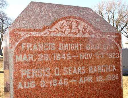 SEARS BABCOCK, PERSIS D. - Ida County, Iowa | PERSIS D. SEARS BABCOCK
