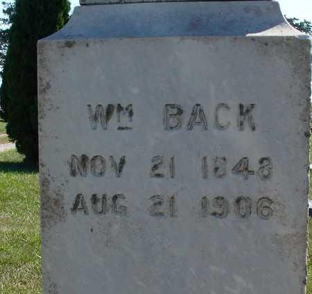 BACK, WILLIAM - Ida County, Iowa | WILLIAM BACK