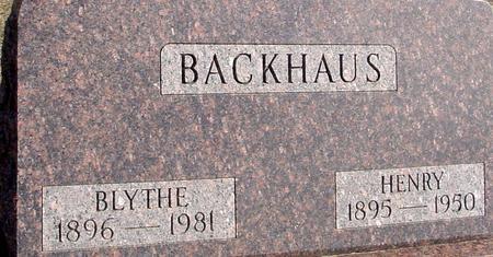 BACKHAUS, BLYTHE - Ida County, Iowa | BLYTHE BACKHAUS