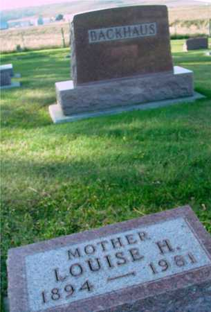 BACKHAUS, LOUISE H. - Ida County, Iowa | LOUISE H. BACKHAUS