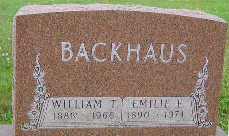 BACKHAUS, WILLIAM & EMILIE - Ida County, Iowa   WILLIAM & EMILIE BACKHAUS