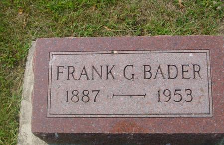 BADER, FRANK G. - Ida County, Iowa | FRANK G. BADER
