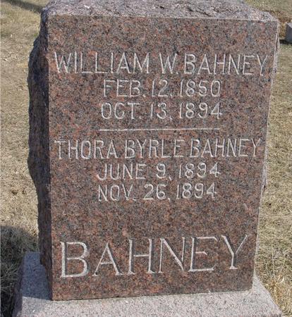 BAHNEY, WILLIAM & THORA - Ida County, Iowa   WILLIAM & THORA BAHNEY