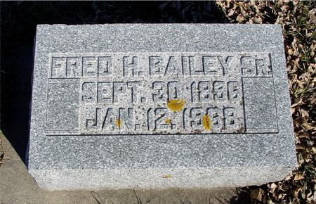 BAILEY, FRED H. BAILEY SR. - Ida County, Iowa | FRED H. BAILEY SR. BAILEY