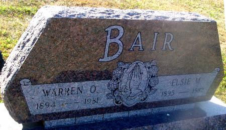 BAIR, WARREN O. & ELSIE - Ida County, Iowa | WARREN O. & ELSIE BAIR