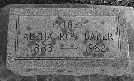 BAKER, ALPHA ROY - Ida County, Iowa | ALPHA ROY BAKER