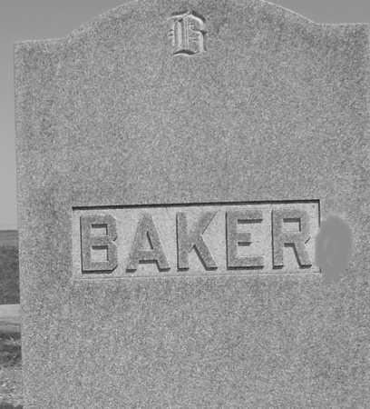 BAKER, FAMILY MARKER - Ida County, Iowa   FAMILY MARKER BAKER