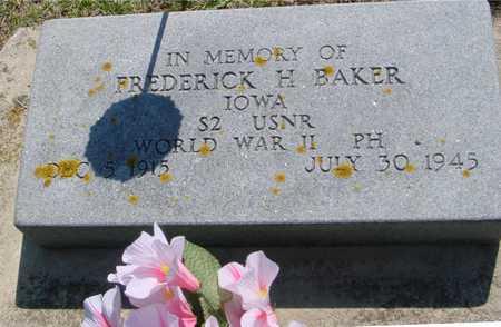 BAKER, FREDERICK H. - Ida County, Iowa | FREDERICK H. BAKER