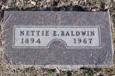 BALDWIN, NETTIE E. - Ida County, Iowa | NETTIE E. BALDWIN