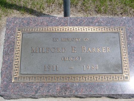 BARKER, MILFORD - Ida County, Iowa | MILFORD BARKER