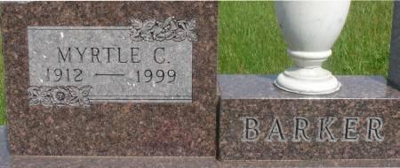 BARKER, MYRTLE C. - Ida County, Iowa | MYRTLE C. BARKER