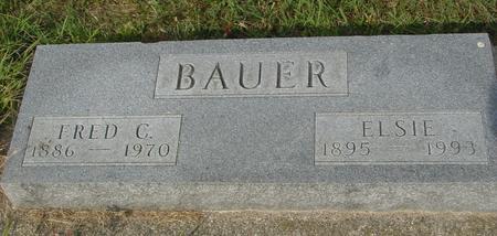 BAUER, FRED C. & ELSIE - Ida County, Iowa | FRED C. & ELSIE BAUER