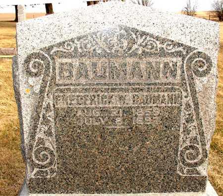 BAUMANN, FREDERICK W. - Ida County, Iowa   FREDERICK W. BAUMANN