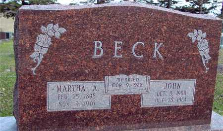 BECK, JOHN & MARTHA - Ida County, Iowa | JOHN & MARTHA BECK
