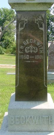 BECKWITH, F. H. - Ida County, Iowa | F. H. BECKWITH