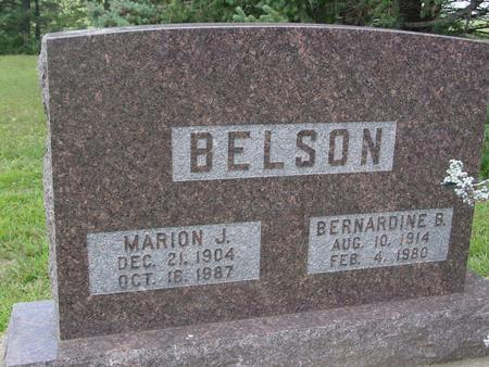 BELSON, MARION - Ida County, Iowa | MARION BELSON