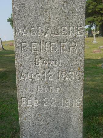 BENDER, MAGDALENE - Ida County, Iowa   MAGDALENE BENDER